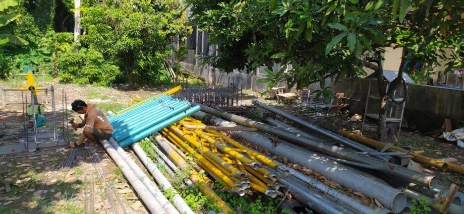 Jual Tiang Lampu PJU Hexagonal Oktagonal Galvanis Dan Produksi Tiang Untuk Lampu Taman Di Medan